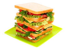 Huge sandwich Royalty Free Stock Photo