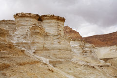 Huge sandy canyon in ancient mountains Royalty Free Stock Photography