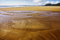 Huge sandy ocean beach Stock Photo