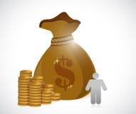 Huge savings concept illustration design Stock Image