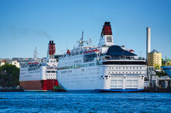 Huge sea ferry Royalty Free Stock Photos