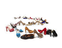 Huge selection of shoes Royalty Free Stock Photo