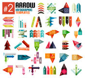 Huge set of arrow infographic templates #2 Stock Photography