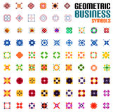 Huge set of business symbols - geometric shapes Stock Photos