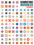 Huge set of business symbols - geometric shapes Stock Image