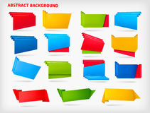Huge set of colorful origami paper banners Stock Photography
