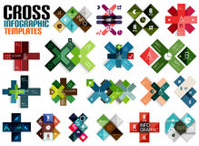 Huge set of cross infographic templates #2 Stock Photo