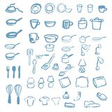 Huge Set of Household Icons from Pillows to Pots and Pans Royalty Free Stock Photography