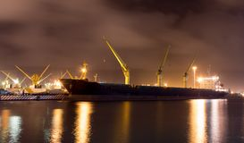 Huge ship with containers royalty free stock photo