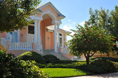 Huge sideview of mansion entryway Stock Photography