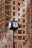 Sidewalk clock royalty free stock image