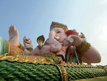 Huge sitting Ganesha sculpture or Phra Pikanet in Thailand Royalty Free Stock Images
