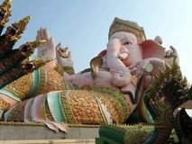 Huge sitting Ganesha sculpture or Phra Pikanet in Thailand Royalty Free Stock Image