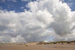 Huge Sky at Rhossili Beach. Royalty Free Stock Photos
