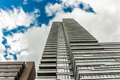 Huge skyscraper downtown The Hague city stock image