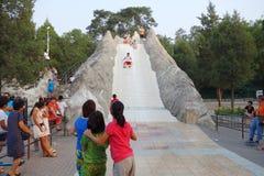huge slide in park  Stock Photo