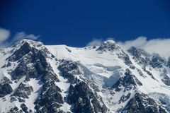Huge snow and rocky mountain Royalty Free Stock Images
