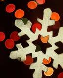 Huge snowflake and magic bokeh. Royalty Free Stock Images