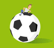Huge soccer ball Royalty Free Stock Images