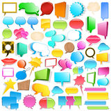 Huge speech bubble collection. Huge blank 3d speech bubble collection with copyspace in different shapes, colours and sizes Royalty Free Stock Image