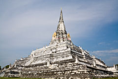 The huge square pagoda. In Wat Phu Khao Thong, Ayutthaya Stock Images