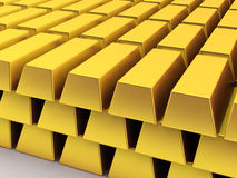 Huge stack of golden bars Stock Images