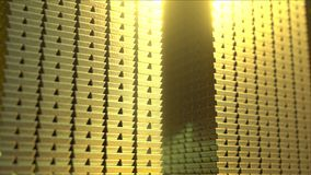 Huge stacks of shiny gold bars, 3D rendering Stock Photo