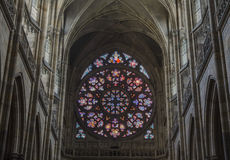 A huge stained glass window Royalty Free Stock Photography