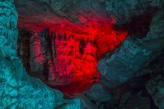 Huge stalagmites inside Cango Caves in Karoo desert Stock Photo