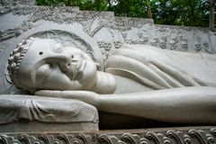 A huge statue of the reclining Buddha.Pagoda Belek.Nha Trang.Vietnam. Stock Images