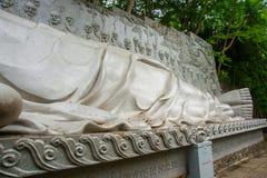 A huge statue of the reclining Buddha.Pagoda Belek.Nha Trang.Vietnam. Royalty Free Stock Image