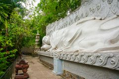A huge statue of the reclining Buddha.Pagoda Belek.Nha Trang.Vietnam. Royalty Free Stock Photo