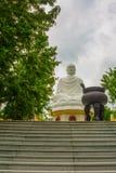 A huge statue of a sitting Buddha.Pagoda Belek.Nha Trang.Vietnam. Stock Images