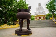A huge statue of a sitting Buddha.Pagoda Belek.Nha Trang.Vietnam. Royalty Free Stock Image