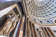 Statues in Pantheon. Huge statues in the Pantheon. Rome, Italy royalty free stock photos