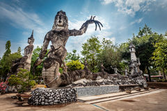 Huge Statues in the Sculpture Park , Thailand. The rocks name Two brothers,Landscape of huge rock near the beach in Fernando de Noronha stock photography