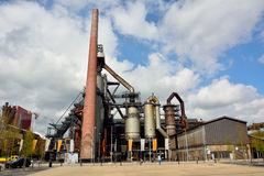 Huge steelwork plant in Esch-sur-Alzette, Luxembourg. Royalty Free Stock Photos