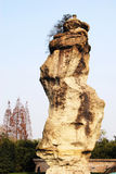 Huge stone. Stands in Huijishan park of Shaoxing, China Royalty Free Stock Photography
