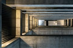 Huge stone and concrete space Stock Photography