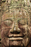 Stone face, the Bayon Temple, Angkor Wat, Cambodia Stock Photo