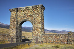 Huge stone gate Stock Photography