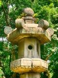 Huge stone lantern, Tokyo, Japan Royalty Free Stock Image