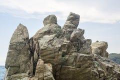 Huge stone mountain Royalty Free Stock Image