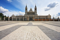 The huge stone paved square of the castle Royalty Free Stock Photos