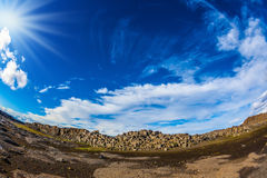 Huge stones on the plateau Royalty Free Stock Photo
