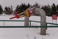 Huge stop valve Royalty Free Stock Image