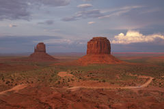 Huge storm cloud in Monument Valley Stock Image