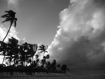 Beach storm at Punta Cana beach. Huge storm coming from the ocean to Punta Cana beach, Dominican Republic royalty free stock photos