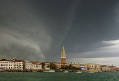 Huge Storm at The Grand Canal in Venice Stock Image