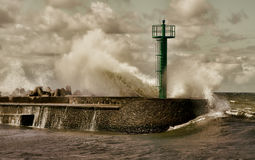 Huge storm wave Royalty Free Stock Photos